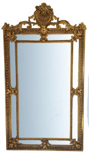 For Sale The Gilding Workshop - French cushion frame, original mercury mirror and boarded back